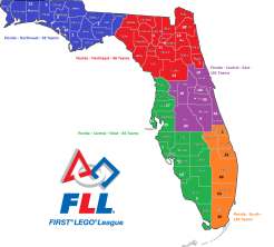 FLL State map